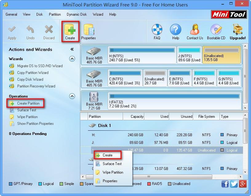 étape 1 Comment utiliser le gestionnaire de partition