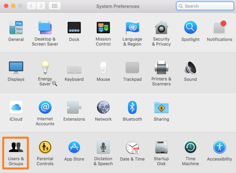 access-system-preferences