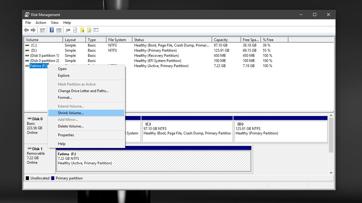 partition SD card step 2