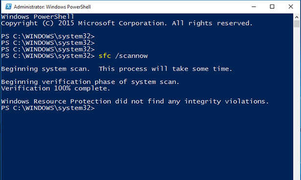 type command to repair windows files