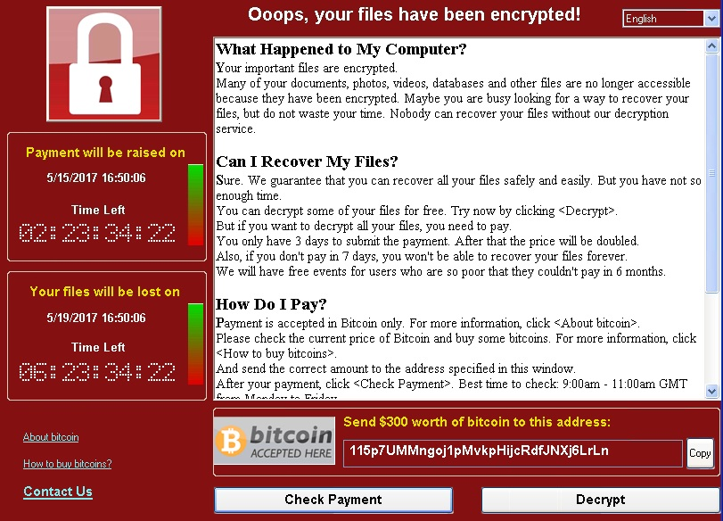 about wannacrypt ransomware