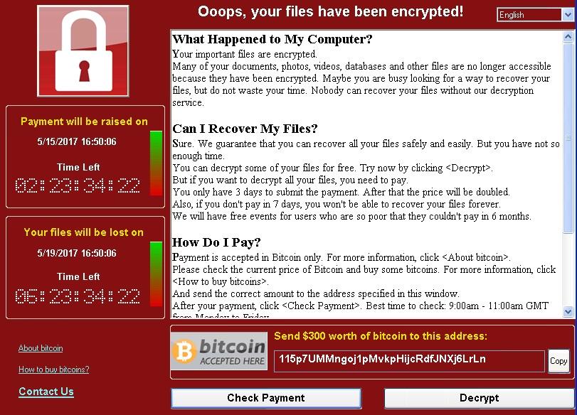 Proteção Contra WannaCry: Como restaurar ou proteger o seu computador do ataque