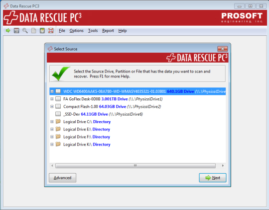 data rescue PC 3.2