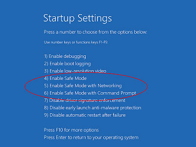 get to Enter Safe Mode in Windows 10 step 6