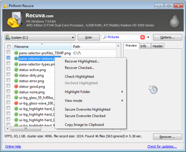 best free SD card recovery software-recuv sd card recovery software