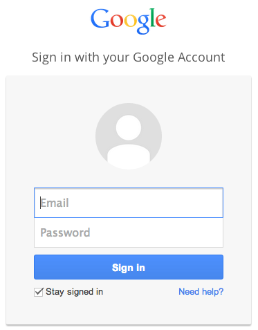 log in gmail account