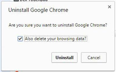Uninstall Google Chrome from a Windows PC