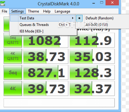 Test Hard Disk speed with CrystalDiskMark-2
