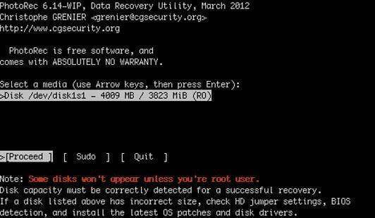 cell phone data recovery software-photorec