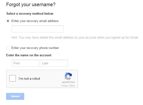 How to Recover Gmail Username
