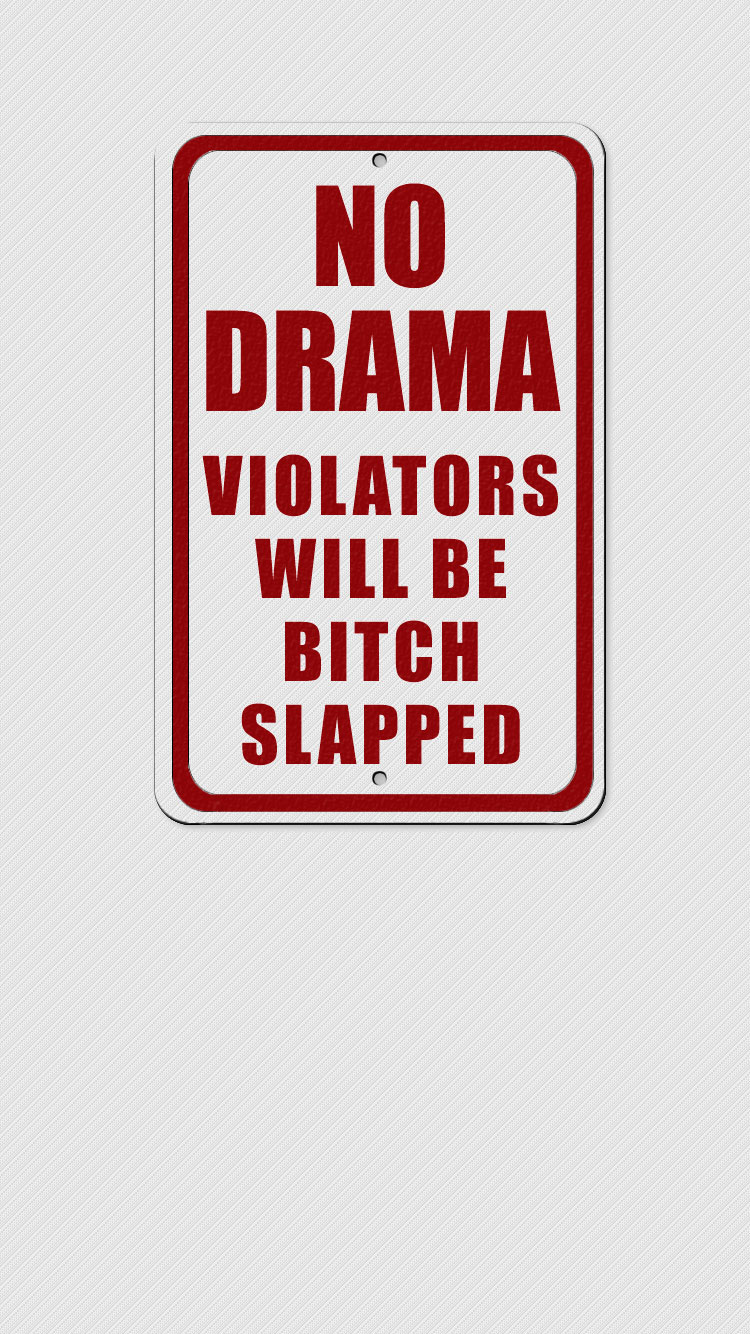 20 funny iphone wallpapers-funny warning wallpaper