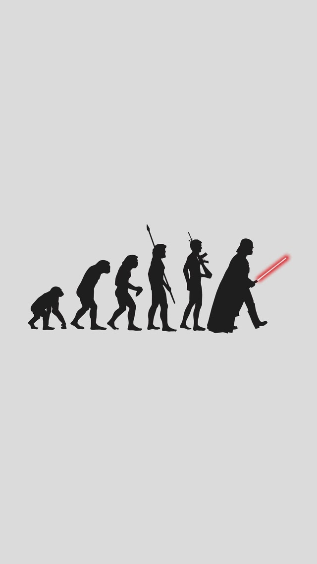 20 funny iphone wallpapers-darth vader evolution