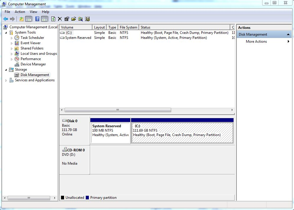 partition hard drive step 1
