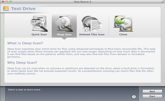 Free Data Recovery Software for Mac-Data Rescue 4