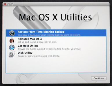 Restore Mac with the help of Recovery HD-repair hard drive