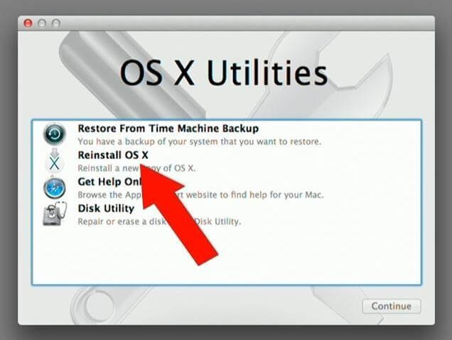 Restore Mac with the help of Recovery HD-install mac os x