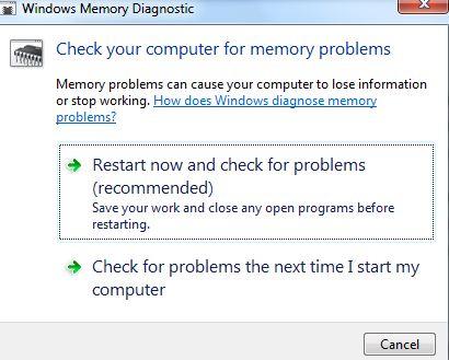 fix the faulty RAM to fix blue screen 0x0000001e-step 3