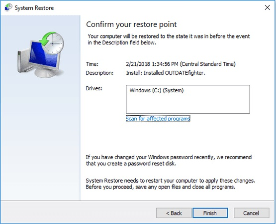 Step 10-recover data after blue screen 1033 error