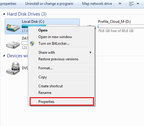 Run hard disk check to fix bluescreen bccode 9f-step 4