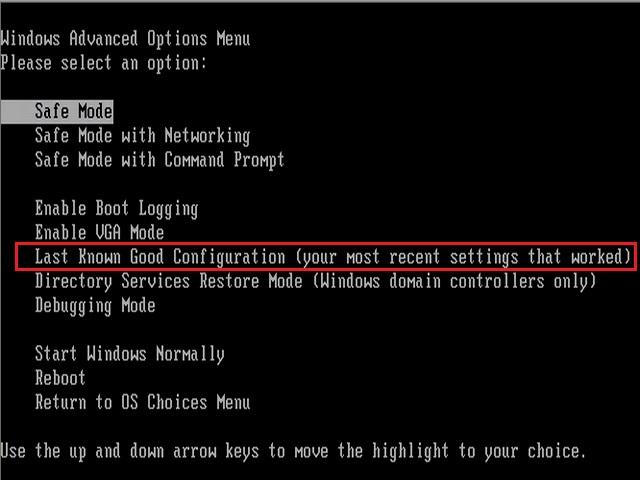 choose configuration to fix bluescreen 0x000000d1 error
