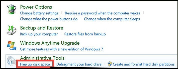 Ensure free space on Windows drive to avoid blue screen of death