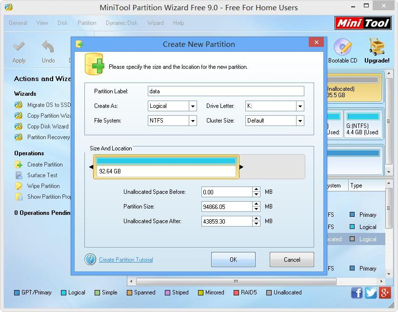 how to use partition manager step 2