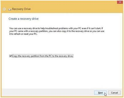 recover Windows 8 with a usb recovery Drive