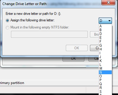 assign a new drive letter to WD hard drive