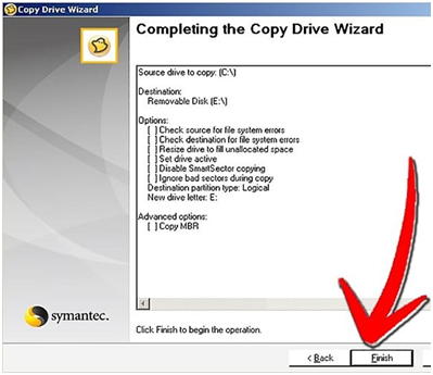 clone hard drive step 8