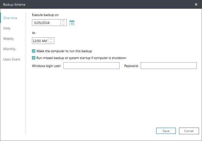 Easeus Todo Backup Software backup computer-choose a backup period