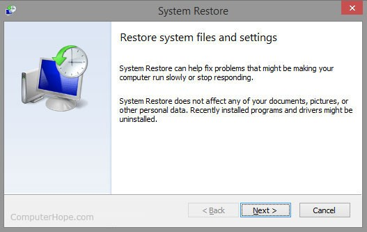 restore system to fix blue screen bccode 1a