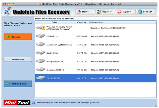 recover lost data with Minnitool data recovery step 2