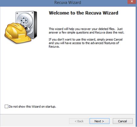 Recuva hard drive recovery software