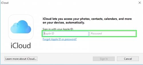 configurar icloud en windows 4