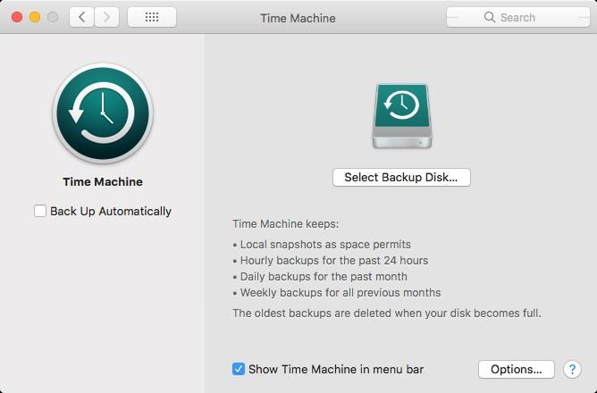 Time Machine einrichten