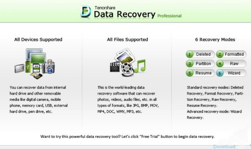 programa para recuperar documentos eliminados - Tenorshare Document Recovery Software