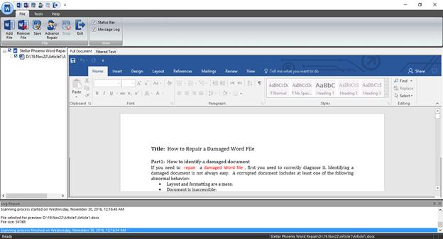 repair corrupt doc and docx word file step 3