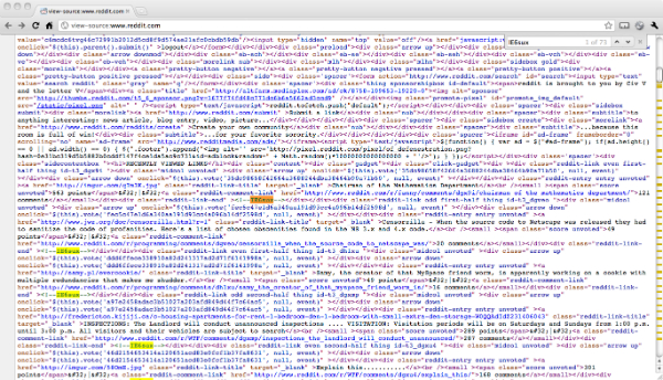 view source code on a website