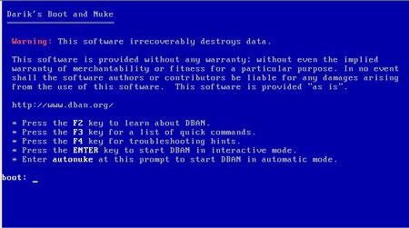 Secure Delete: Darik's Boot And Nuke