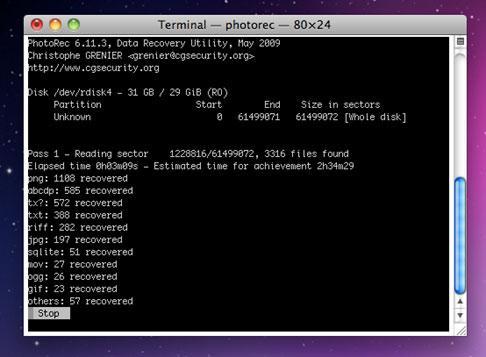 Undelete Freeware- PhotoRec file recovery