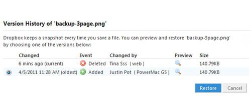 how to recover Dropbox deleted files step 3