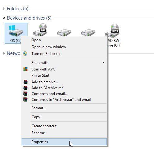 automatic fix hard disk step 1