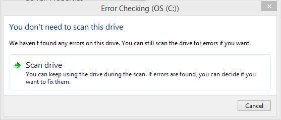 automatic fix hard disk step 3