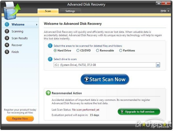 restore removed email advanced disk recovery