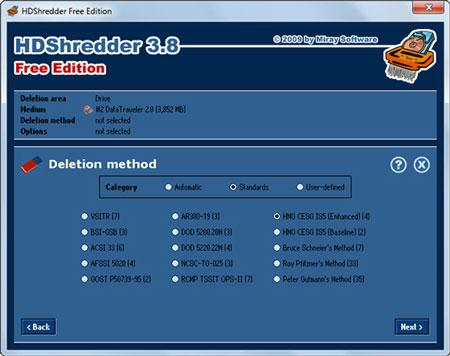 Secure Delete: HDShredder Free Edition