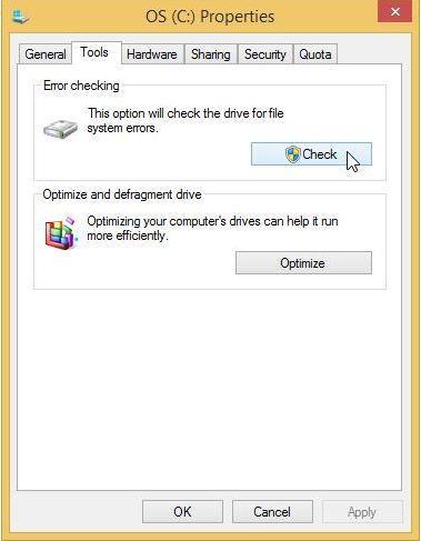 réparer une défaillance du disque dur étape 2