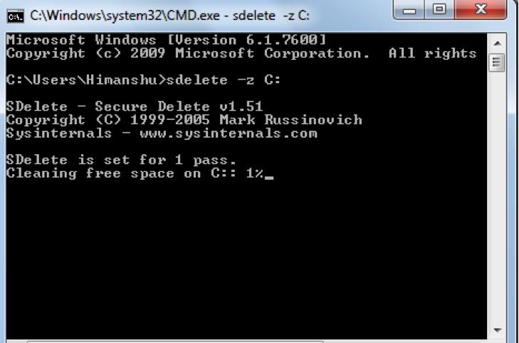 Entre chaque cycle, le logiciel remplit le disque de nouvelles données pour ensuite les effacer. De cette façon, si l'on tentait de lire les données résiduelles, celles-ci seraient mélangées aux nouvelles qui ont été ajoutées par le logiciel…