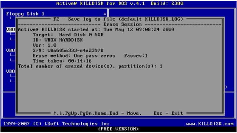 effacer un disque dur étape 5
