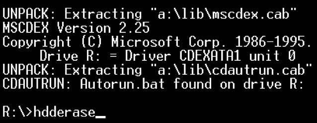 effacer le disque dur avec HHDErase