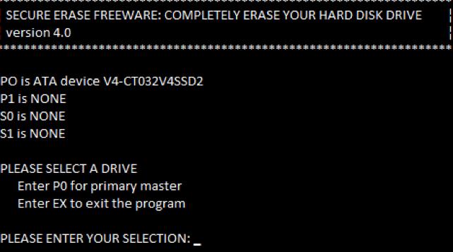 effacer le disque dur avec un effaceur à disque dur